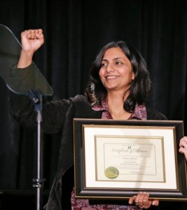 Sawant inauguration fist