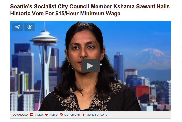 Democracy Now : Kshama Sawant