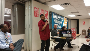 Guillermo Lindsey, CTUL leader and fast-food worker